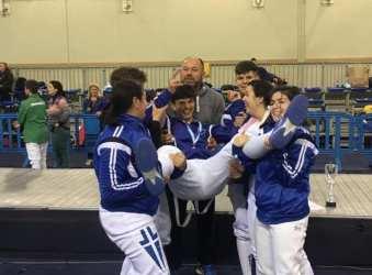 Ο Νικόλας Χατζηγεωργίου είναι ο νέος πρωταθλητής Ελλάδος στο ξίφος Μονομαχίας στην κατηγορία έφηβων
