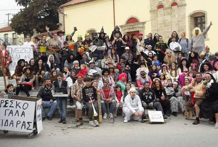Καρναβάλι στην Αγία Βαρβάρα την Καθαρά Δευτέρα 2  Μαρτίου