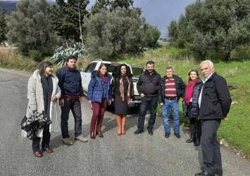 Αυτοψία του αντιπεριφερειάρχη Ηρακλείου Νίκου Συριγωνάκη σε περιοχές του Δήμου Γόρτυνας
