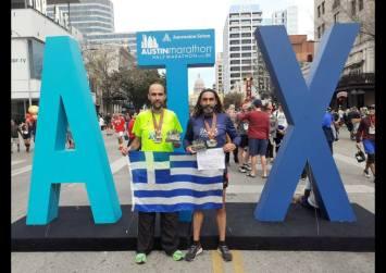 Ο Ζαριανός Κ. Μανιουδάκης και ο Αγιοβαρβαρίτης Μ. Σηφάκης και σήκωσαν την Ελληνική σημαία στο Τέξας!
