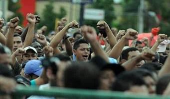 Teachers Protest in Tegucigalpa.