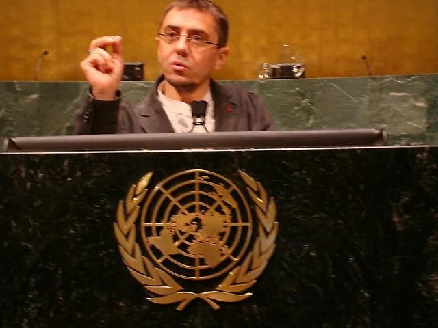 Juan Carlos Monedero en La ONU