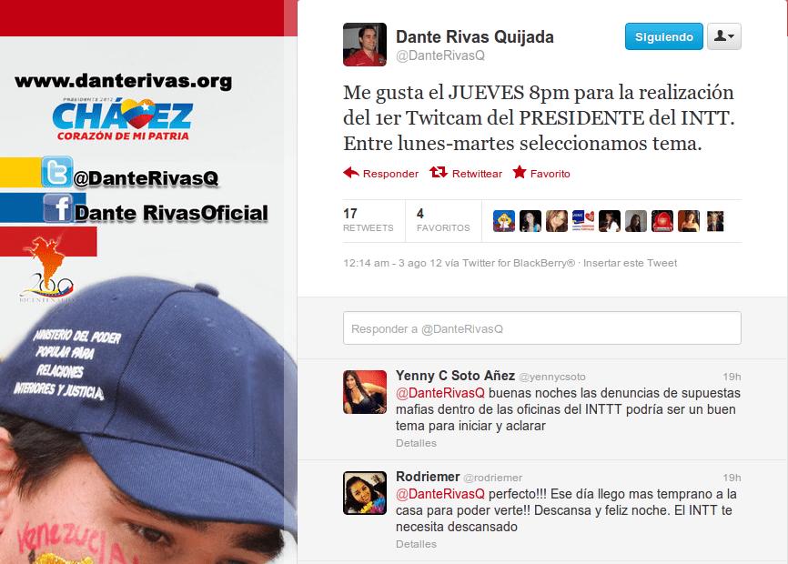 Dante Rivas emplea las redes sociales para mantener comunicación con usuarios y usuarias de la institución que preside