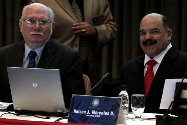 Ministro Jorge Giordani y el Presidente del BCV, Nelson Merentes