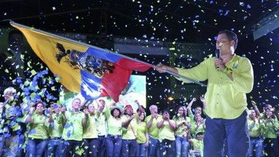 Acto de fin de campaña de Correa