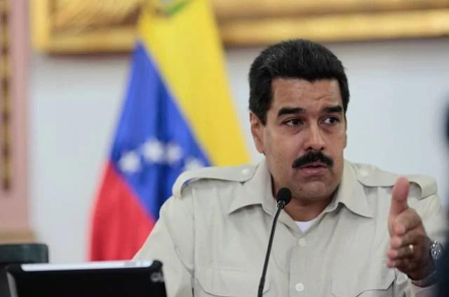 El Presidente Nicolás Maduro durante una reunión con gobernadores bolivarianos.