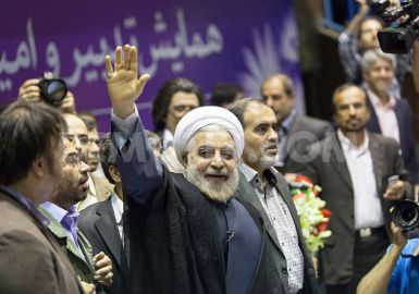 El presidente electo de Irán,  Hassan Rowhani