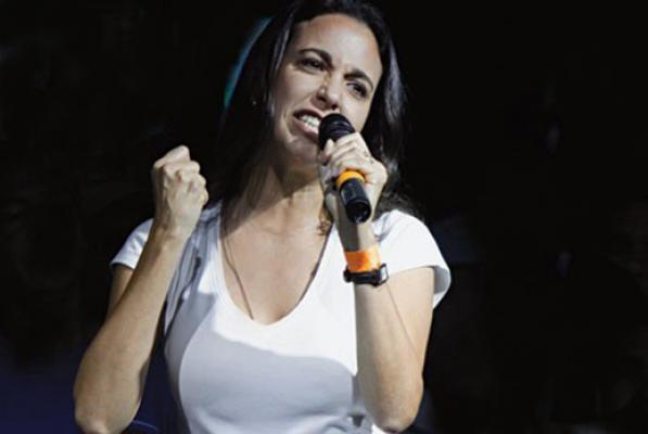 La diputada de derecha, María Corina Machado, fuera de sí y desesperada hizo llamado de carácter desestabilizador que incurren en graves delitos.