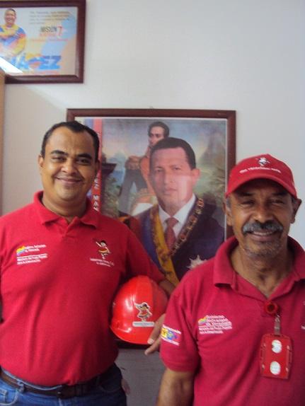 Trabajadores Hector Mieres y Omar Pinto