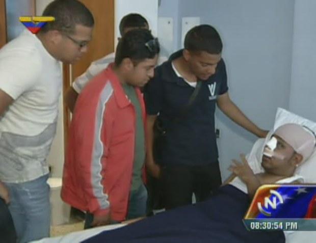 Desde su lecho convaleciente, Willian Muñoz relató la peligrosa experiencia sufrida a manos de opositores violentos