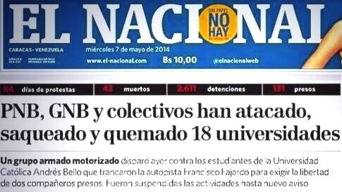 El Nacional y Venevisión distorsionaron la información poniendo a los victimarios como víctimas,violando todo código de ética periodística