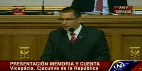 El vicepresidente Ejecutivo de la República, Jorge Arreaza