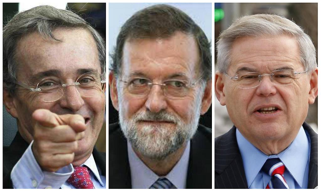 Uribe, Rajoy y Menendez
