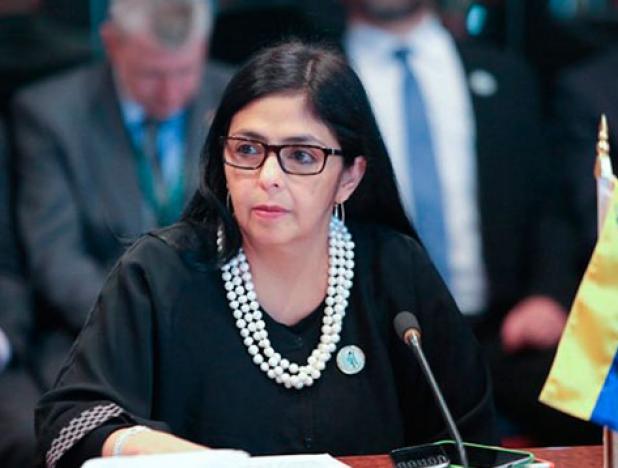 La canciller venezolana, Delcy Rodríguez