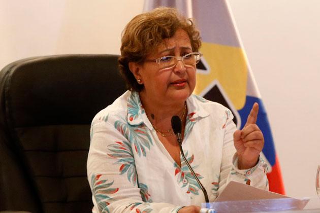La presidenta del Consejo Nacional Electoral (CNE), Tibisay Lucena