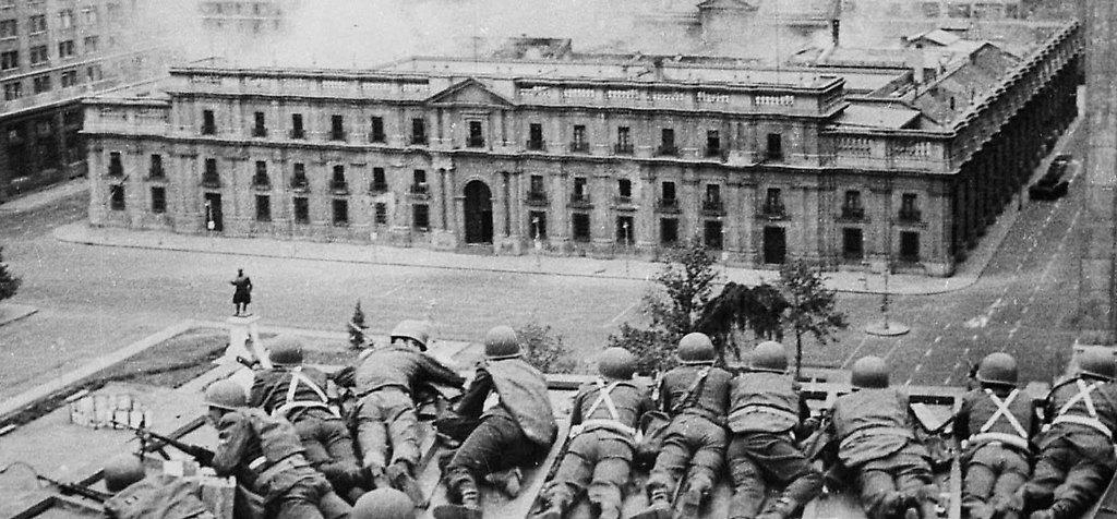 La Moneda el 11 de septiembre de 1973 previo al ataque