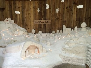 Nativity scene made of salt