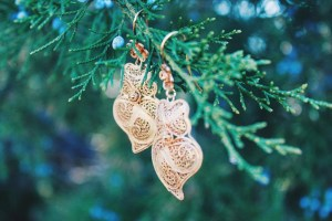 Melanie filigree earrings close-up