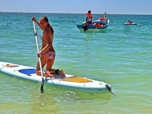 paddle-board in the Algarve
