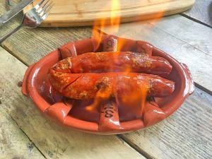 Flaming chourico