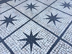 Calcada portuguesa estrelas