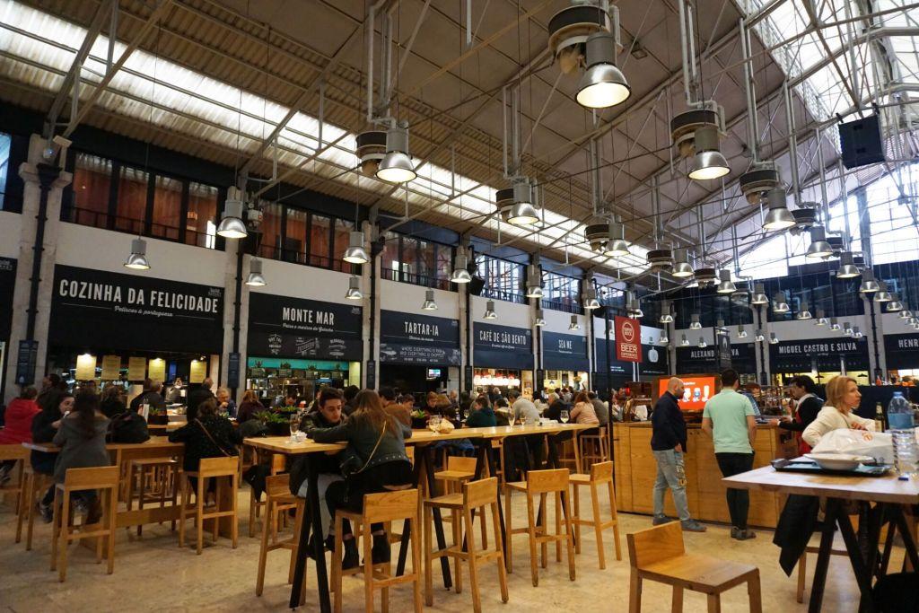 Seating at Mercado da Ribeira