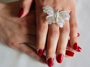 Daniela Butterfly Silver Ring 3
