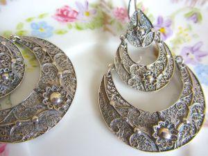 Rosa silver earrings 2