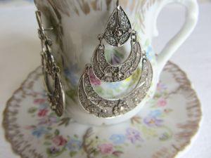 Rosa silver earrings 3