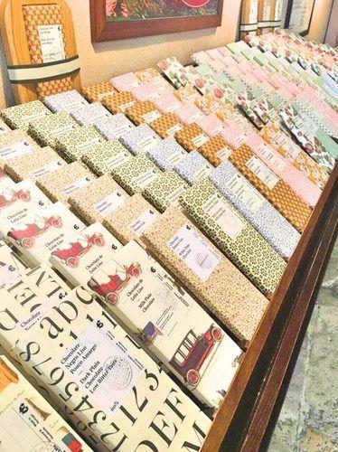 Rows of chocolate bars - Chocolataria Equador