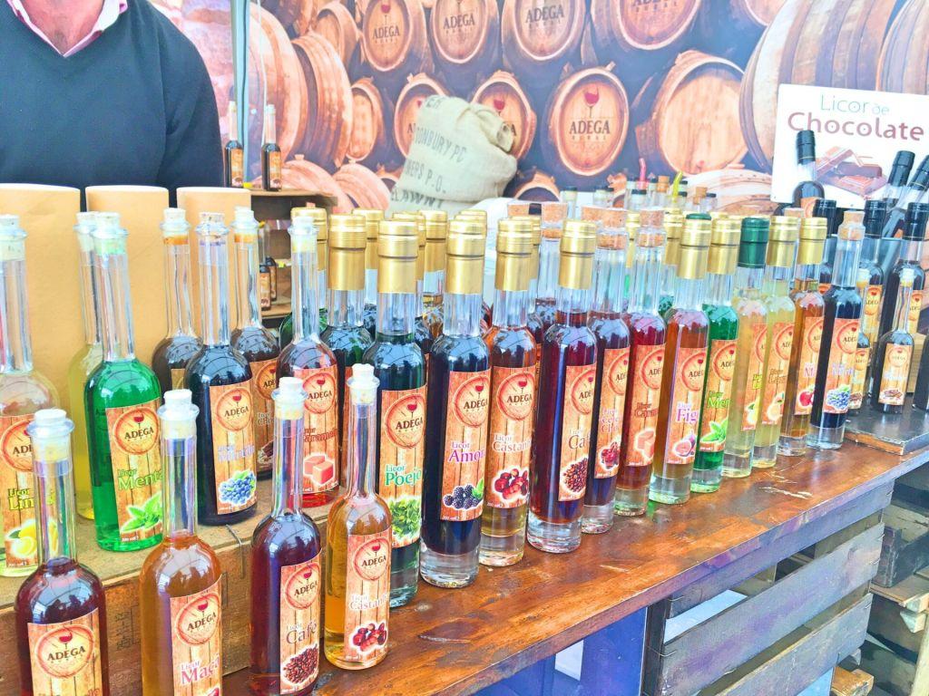 Liqueurs at the Mercado da Baixa