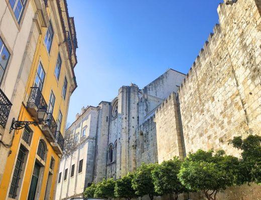 Alfama castle walls