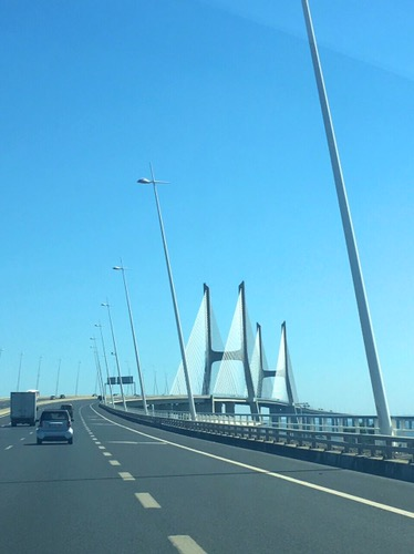Driving on Ponte Vasco da Gama