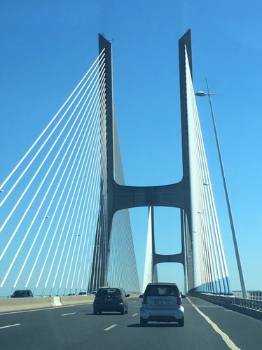 Driving on Vasco da Gama bridge