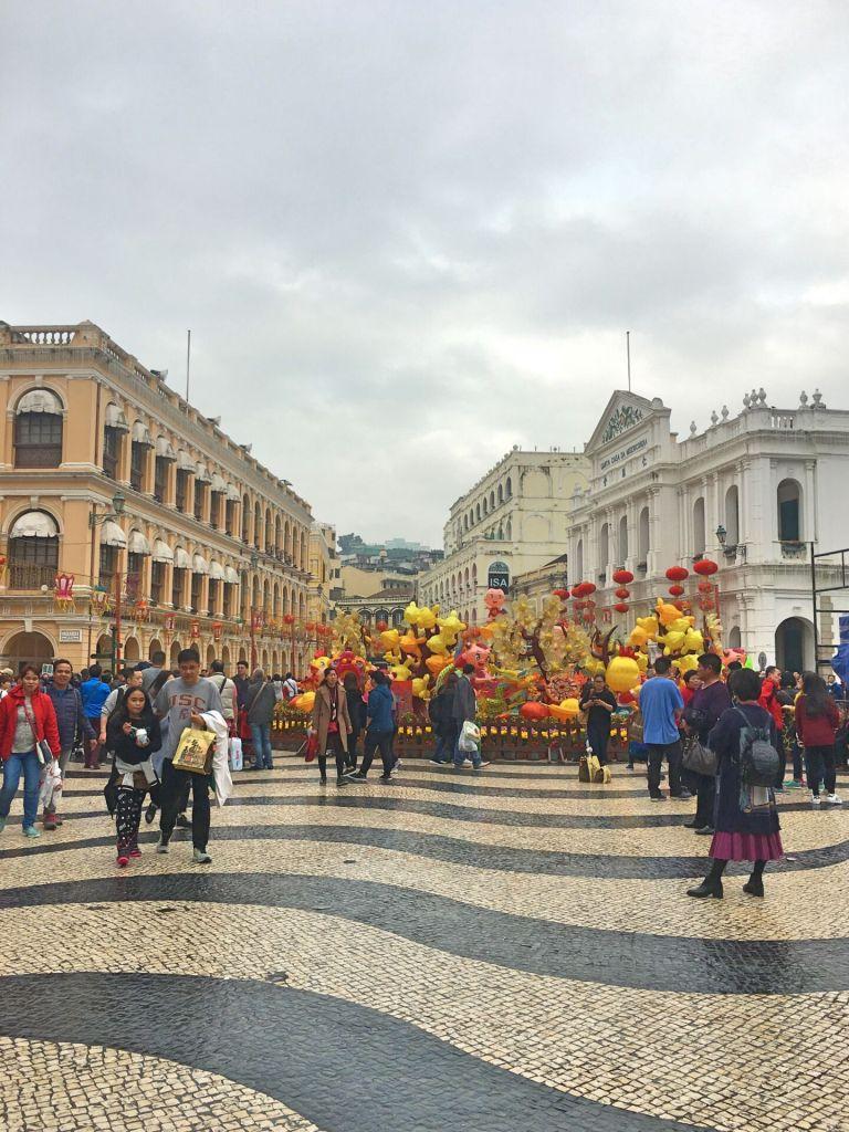 Portuguese calçada Macau
