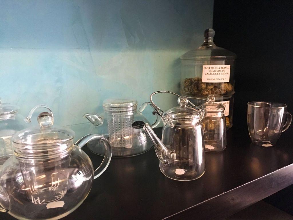 Teapots at Emporio do Cha