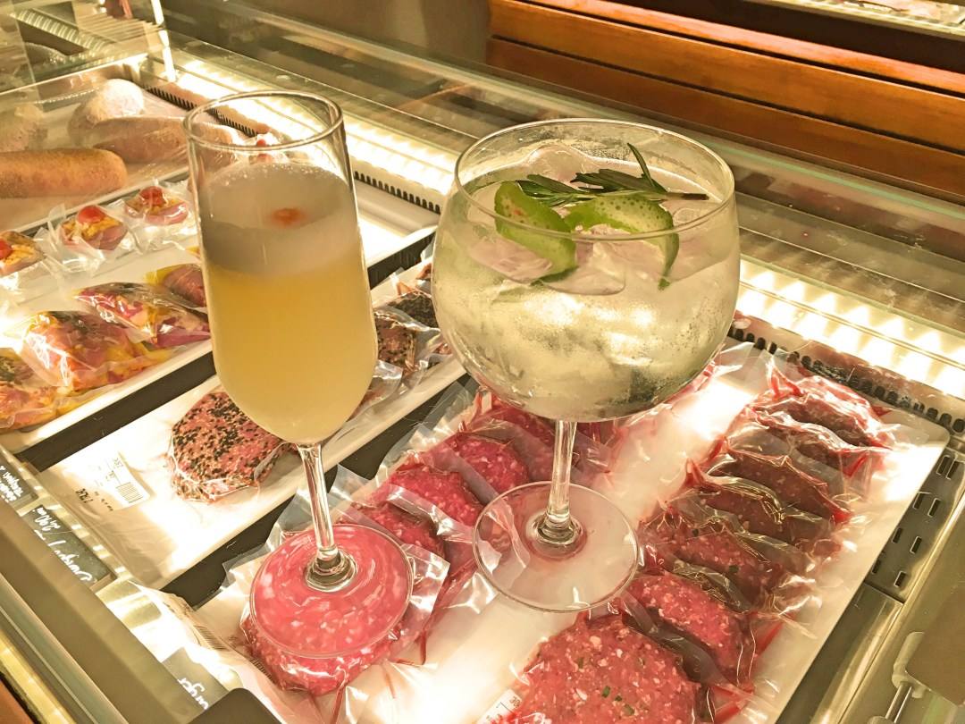 Cocktails and meat at O Talho