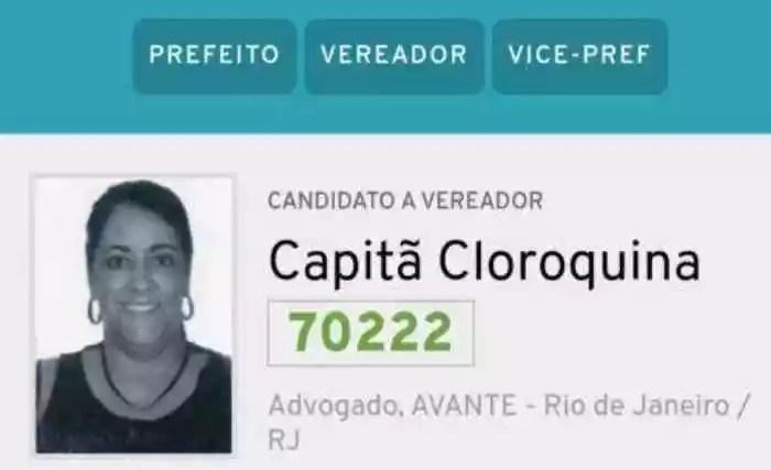 Candidata a vereadora registra 'Capitã Cloroquina' como nome nas urnas