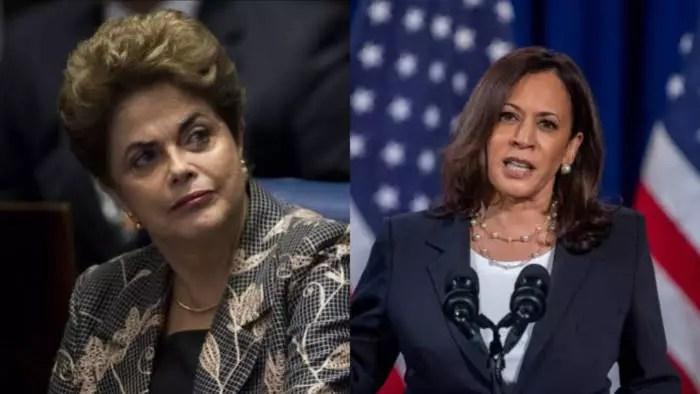 Mídia, que participou do golpe da 1ª mulher presidenta do Brasil, celebra a 1ª vice mulher nos EUA
