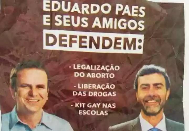 """Diante do fiasco, Crivella apela para o """"kit gay"""" em panfleto."""
