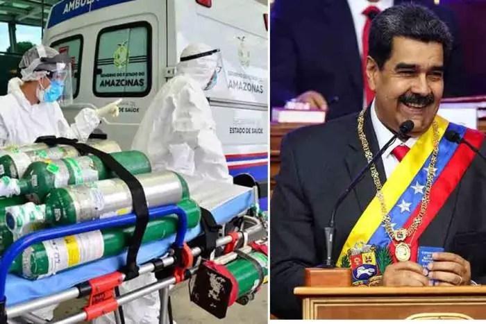 Maduro coloca oxigênio à disposição de Manaus em nome da solidariedade latino-americana.