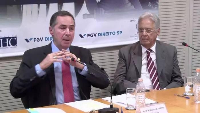 Vídeo: Luis Roberto Barroso entrevistou FHC. Foi o encontro do ego com a vaidade