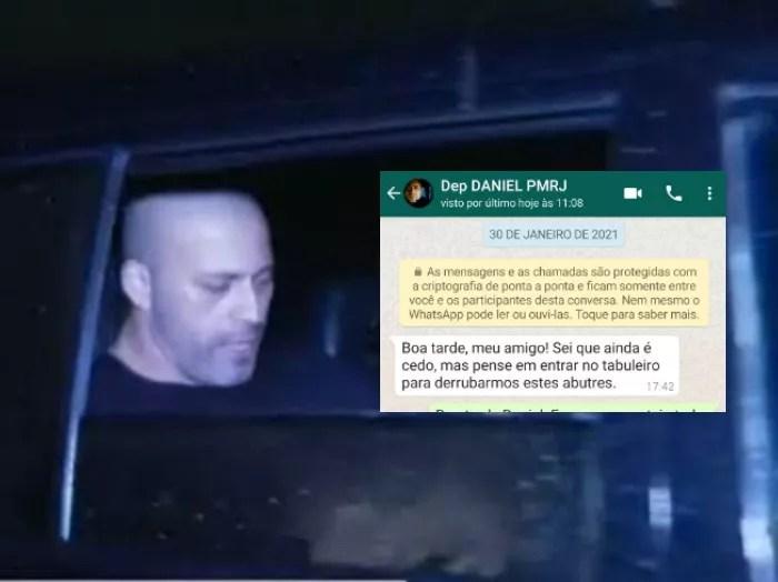 Vaza mensagens do Whatsapp de Daniel Silveira sendo parabenizado por Weintraub por ameaças ao STF.