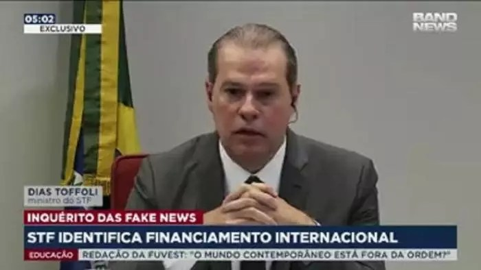 Vídeo – Inquérito de fake news: Toffoli revela recurso estrangeiro em atos contra o STF