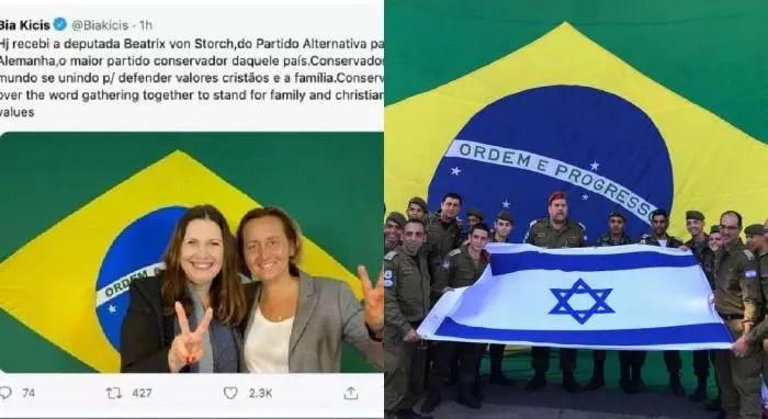 Sionistas e nazistas juntos em apoio a Bolsonaro