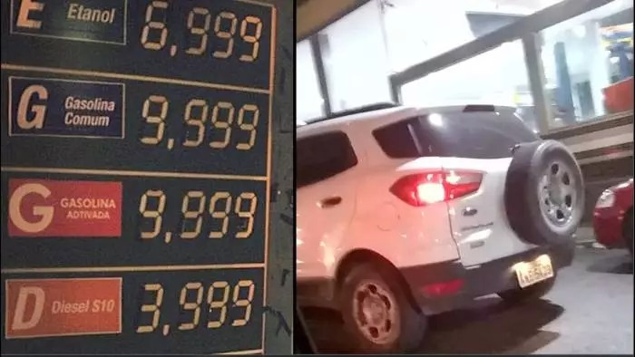 A gasolina vai custar R$ 10 até o fim de 2022, se Bolsonaro continuar no cargo.
