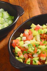 Ensalada de pepino y tomates