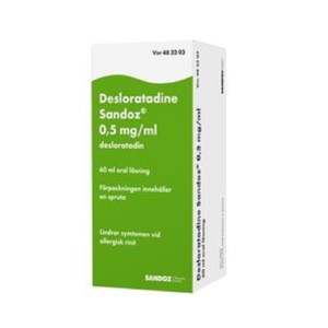 Desloratadine Sandoz 0,5 mg/ml, 60 ml oral lösning