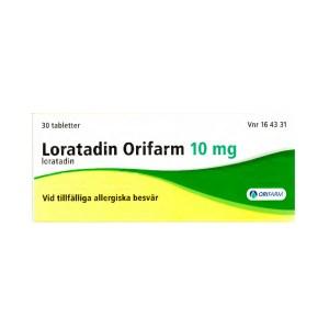 Loratadin Orifarm 10 mg 30 tabletter