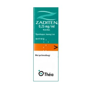 Zaditen ögondroppar 0,25 mg/ml 5 ml